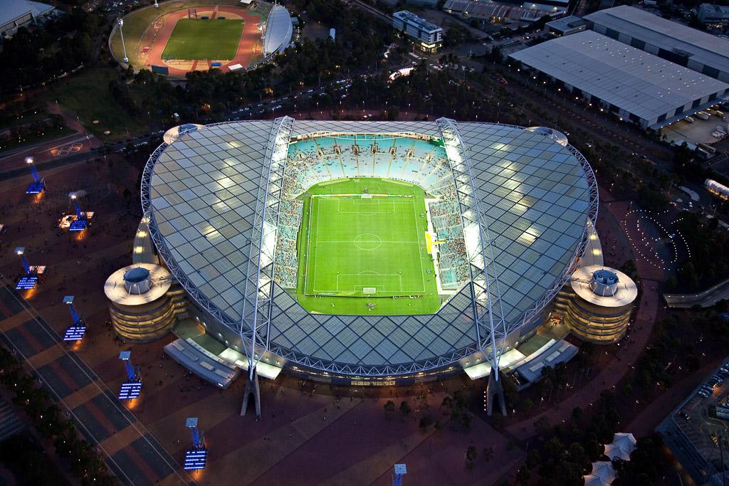 sydney aerial filming at night