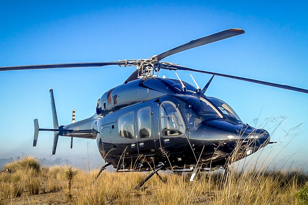 Bell 429 twin engine helicopter for corporate charter