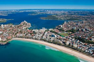 manly beach sydney by helicopter