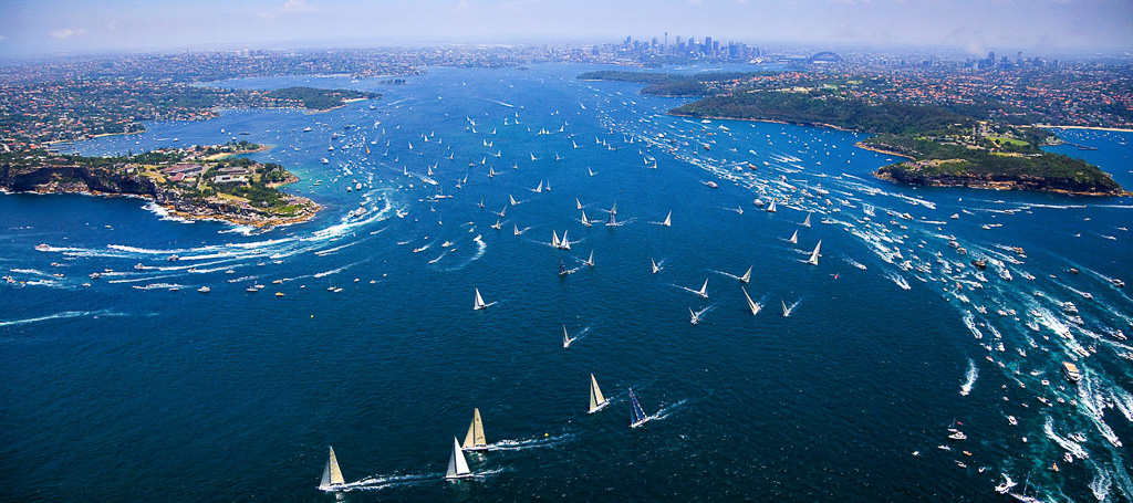 sydney to hobart helicopter aerial photography coverage