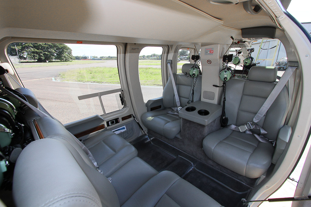 corporate helicopter for aerial survey and executive transfers