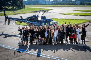corporate helicopters for group events in sydney