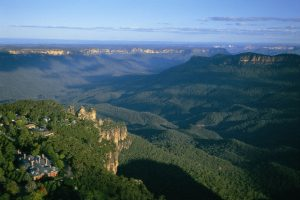 helicopter flights from Blue Mountains to Sydney