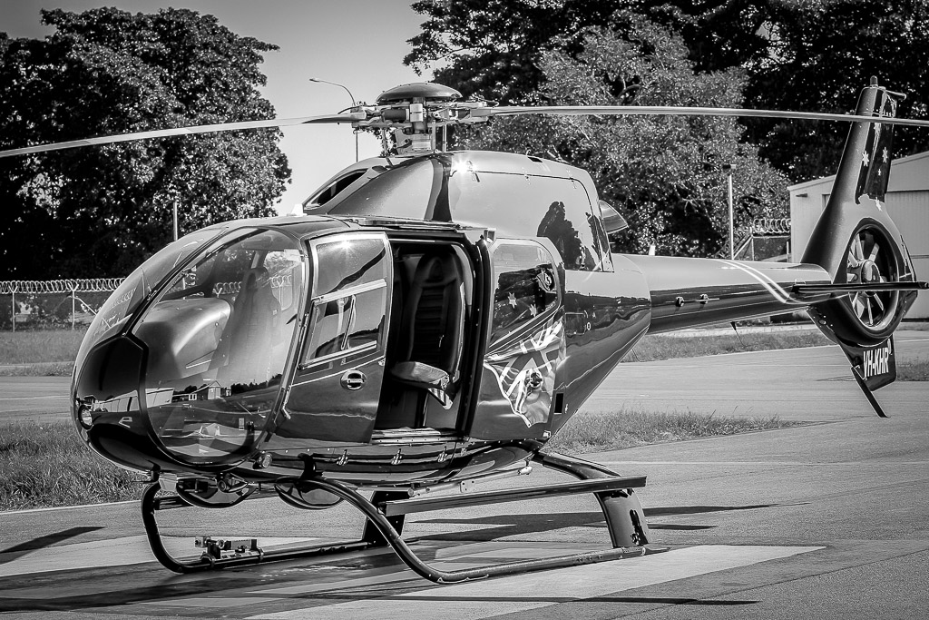 helicopter for aerial photography and filming and scenic tours